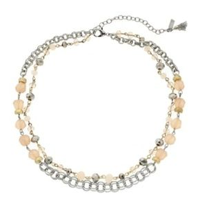 Vera Wang Bead & Chain Double Strand Necklace